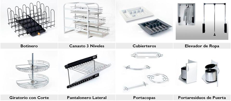 Herrajes para muebles for Accesorios de cocina argentina